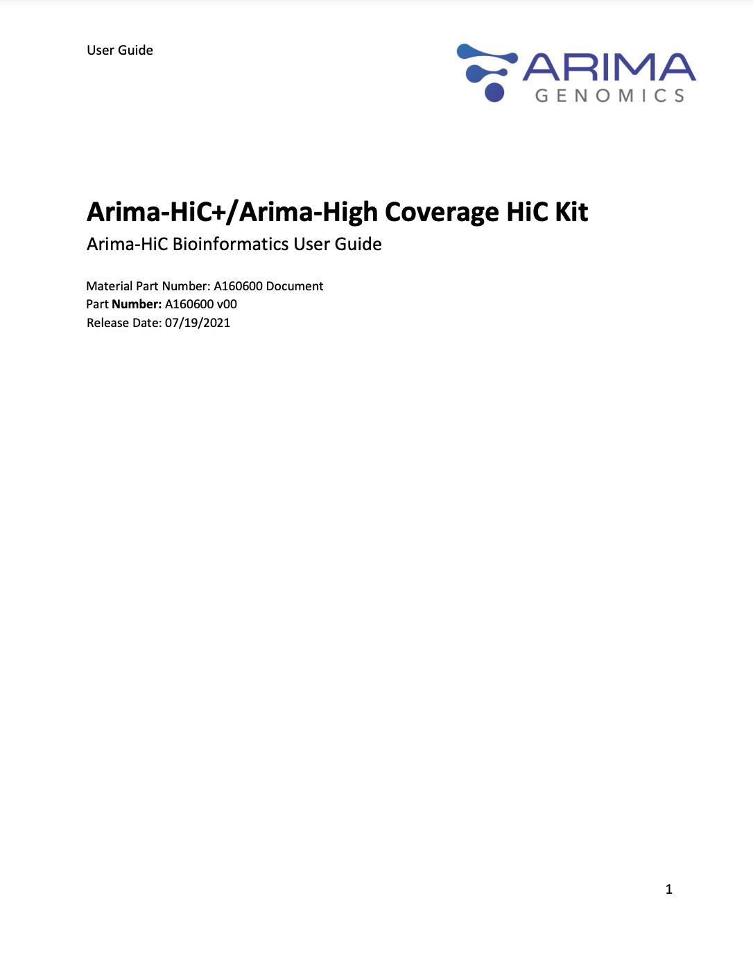 Arima Bioinformatics User Guide